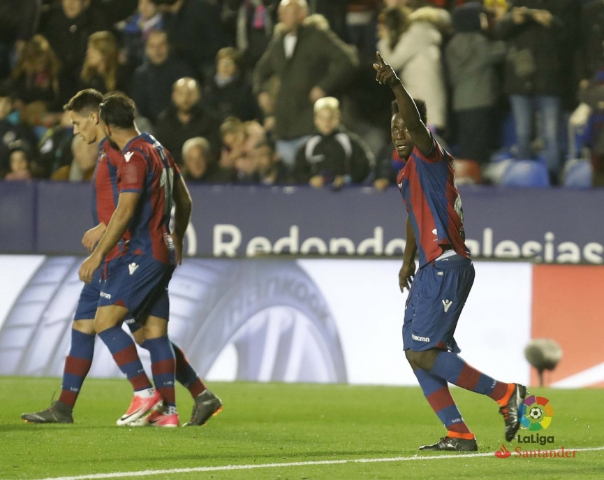 Emmanuel Boateng scores his first La Liga goal for Levante against Real Madrid