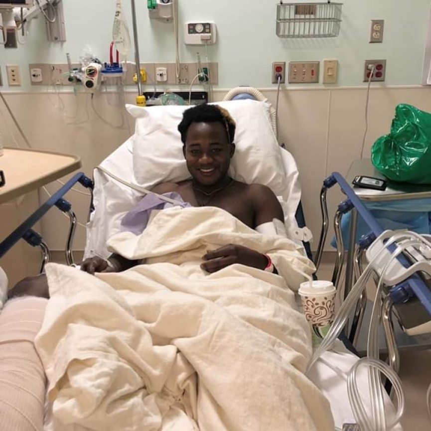 Ghanaian sensation Edward Opoku undergoes successful surgery in USA