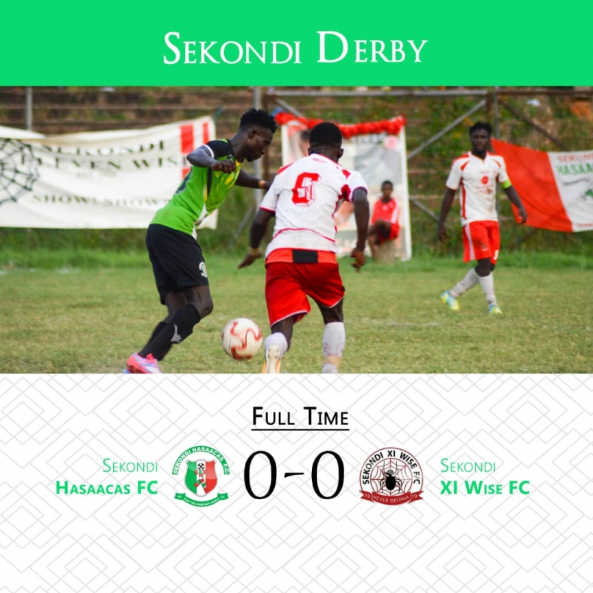 MATCH REPORT: Hasaacas share spoils with Eleven Wise in Sekondi derby