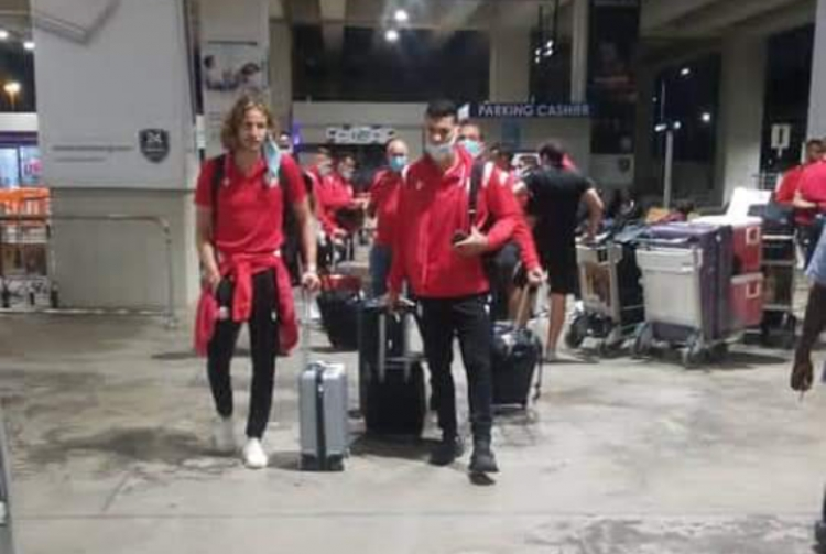 PICTURES: Wydad AC arrive in Ghana for Champions League game against Hearts of Oak
