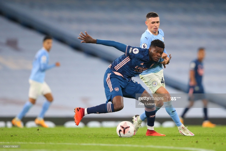 Ghana Superstar Thomas Partey makes 'dream' debut as Man City pip Arsenal