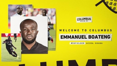 BREAKING: Emmanuel Boateng joins Columbus Crew