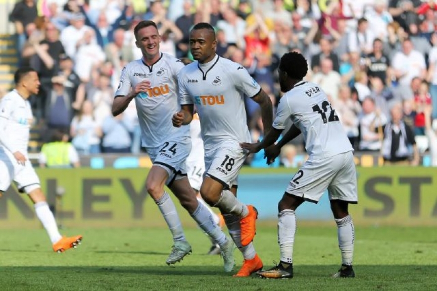 Jordan Ayew scores to grab vital point for Swansea City