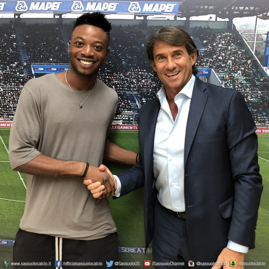 Ghana's Claud Adjapong extends his contract with Serie A side Sassuolo