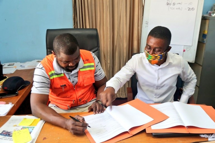 OFFICIAL! Hearts of Oak sign agreement with K.A Estates Limited for Pobiman Academy Project Groundworks