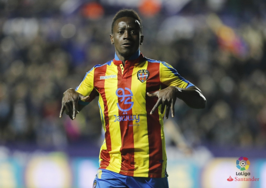 Emmanuel Boateng came off the bench to score winner for Levante in La Liga