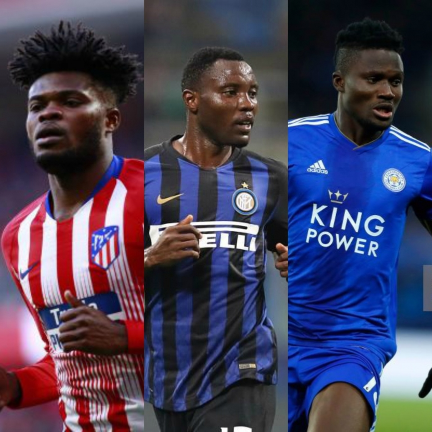 Three Famous Ghanaian footballers in Europe