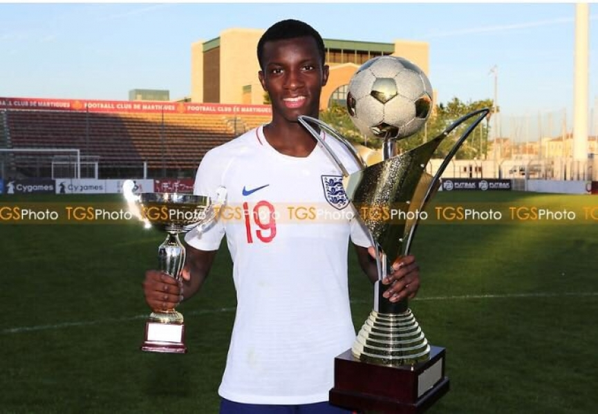 Ghanaian kid Eddie Nketiah wins Toulou Tournament with England