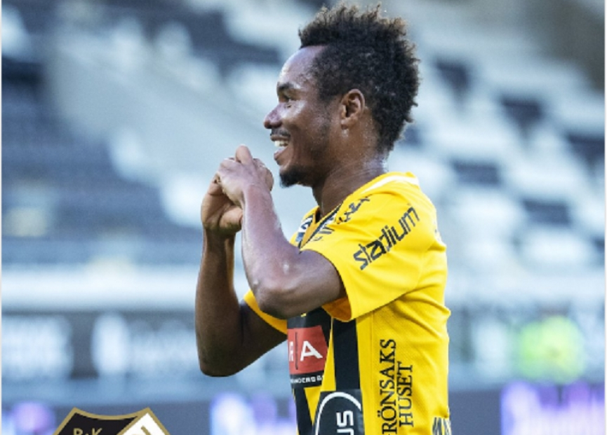 Nasiru Mohammed scores in BK Hacken away win
