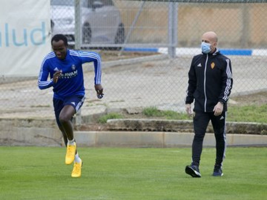 FINALLY! Raphael Dwamena returns to training after SEVEN months due to Heart problem (+PHOTOS)
