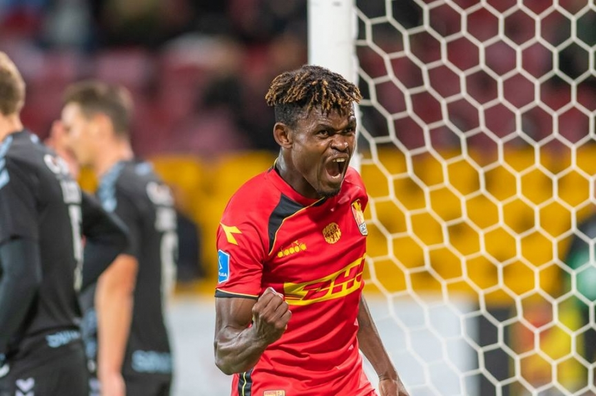 Godsway Donyah nets first HAT-TRICK of the season for FC Nordsjaelland