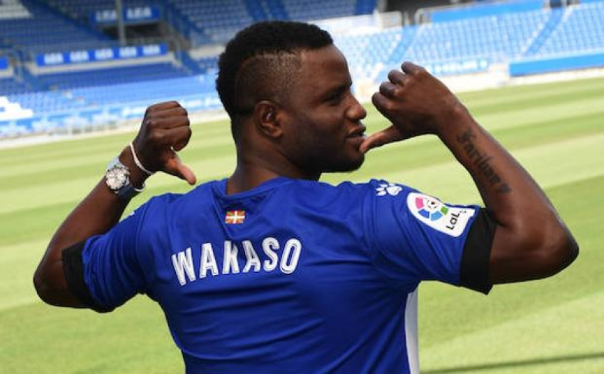 Mubarak Wakaso is joining Chinese club Jiangsu Suning