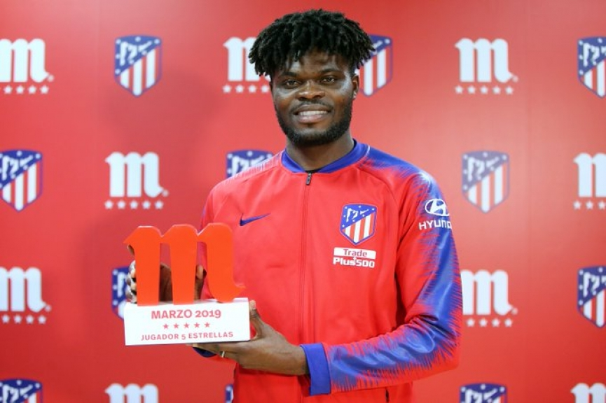 Thomas Partey wins Atletico Madrid player of the month award