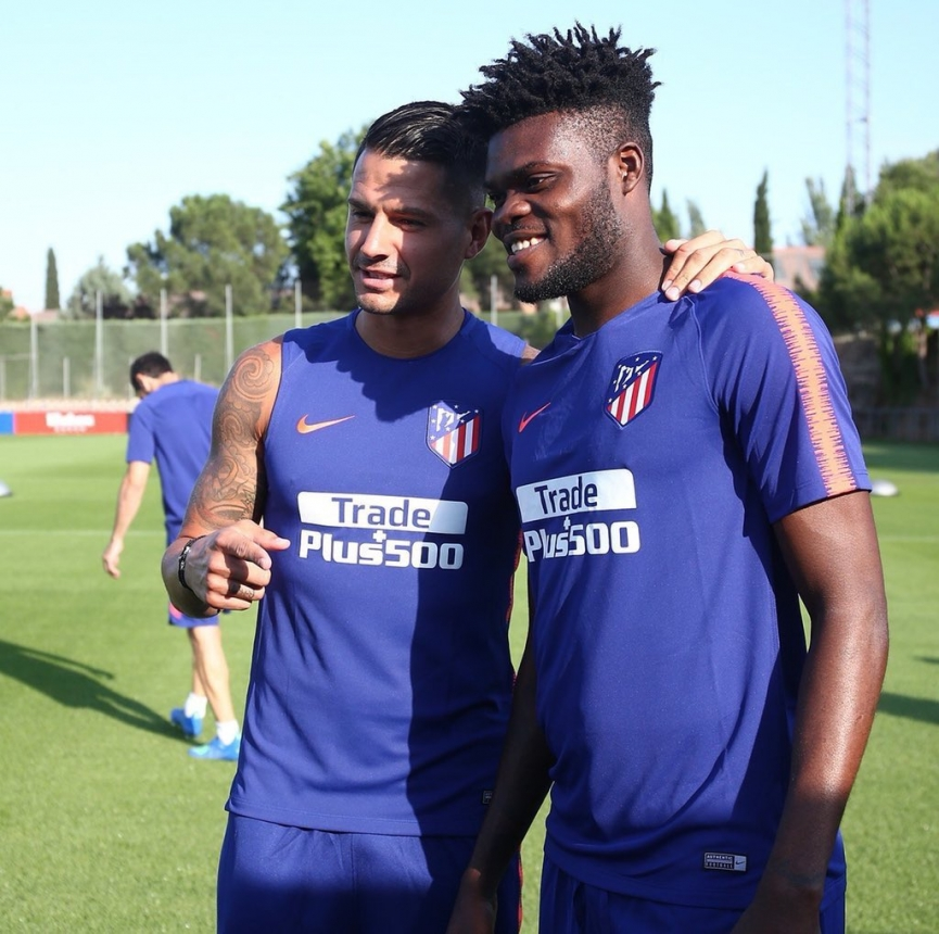 Thomas Partey starts preseason with Atletico Madrid