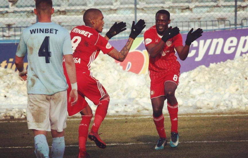 Edwin Gyasi came off the bench to score his first goal for CSKA Sofia in Bulgaria