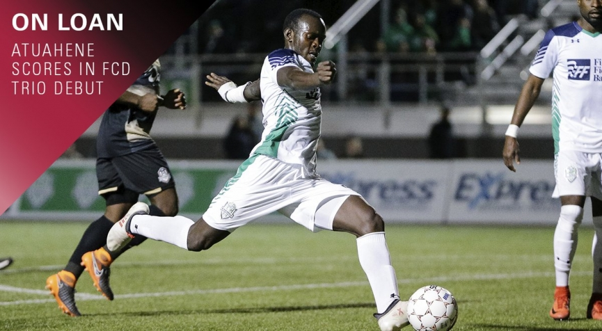 Francis Atuahene scores on OKC Energy FC debut
