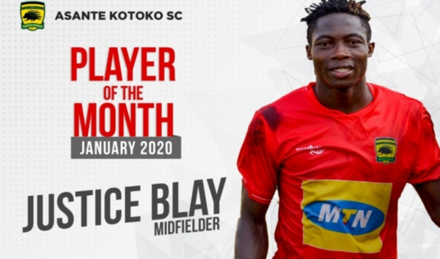 Justice Blay named Kotoko Player of the month