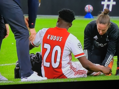Kudus Mohammed suffers FRESH injury after six minutes on Champions League debut against Liverpool