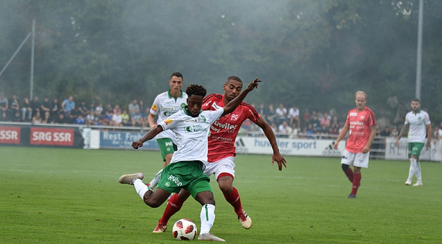 Majeed Ashimeru scores his first goal for FC St. Gallen