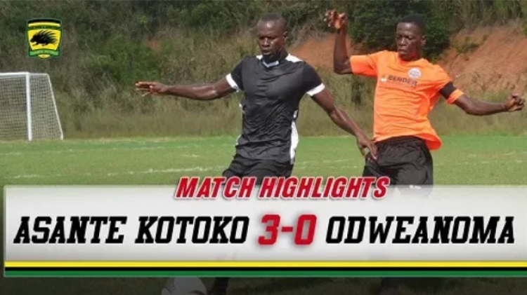 VIDEO: Watch highlights of Asante Kotoko 3-0 win over Odweanoma FC