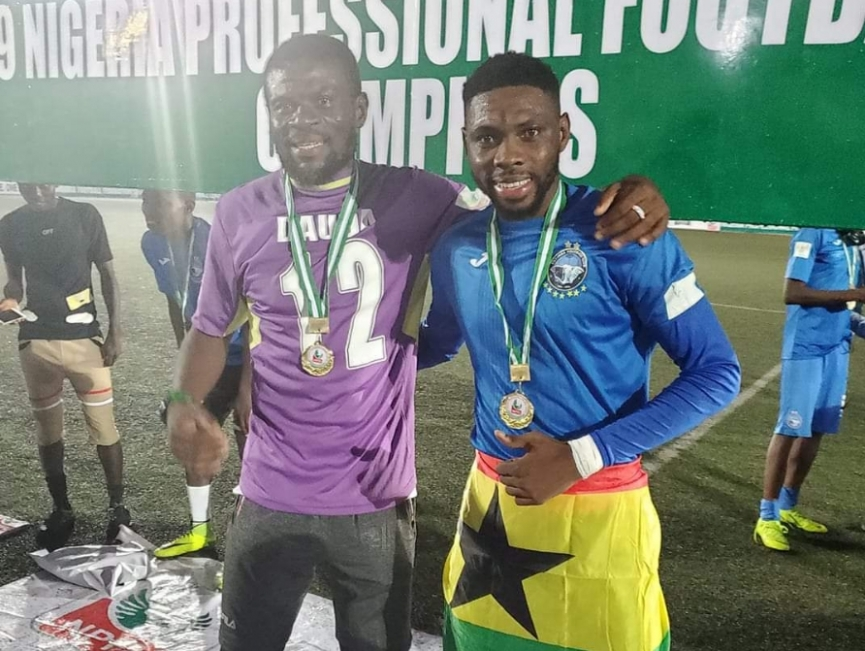 Fatau Dauda and Farouk Mohammed win Nigeria Premier League title with Enyimba FC