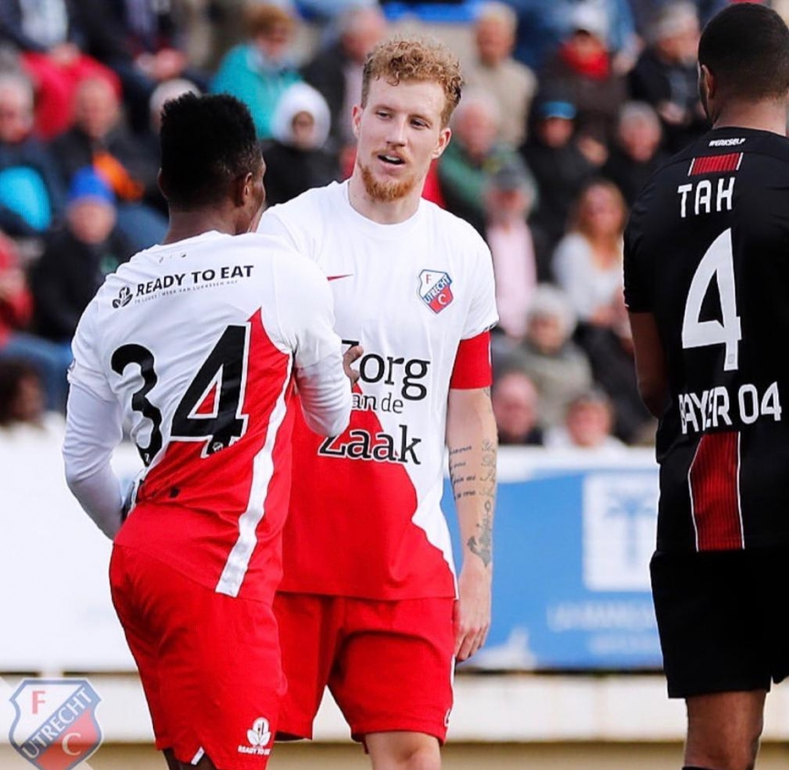 'Live Wire' Issah Abass scores as FC Utrecht beat Bayer Leverkusen