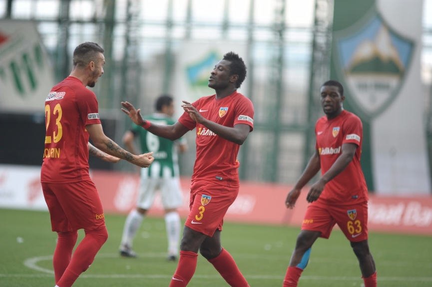 Asamoah Gyan came off the bench to score for Kayserispor in Turkish Cup