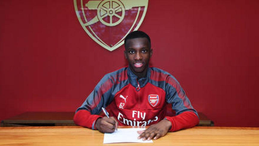 BREAKING NEWS: Ghanaian kid Eddie Nketiah signs new deal with Arsenal