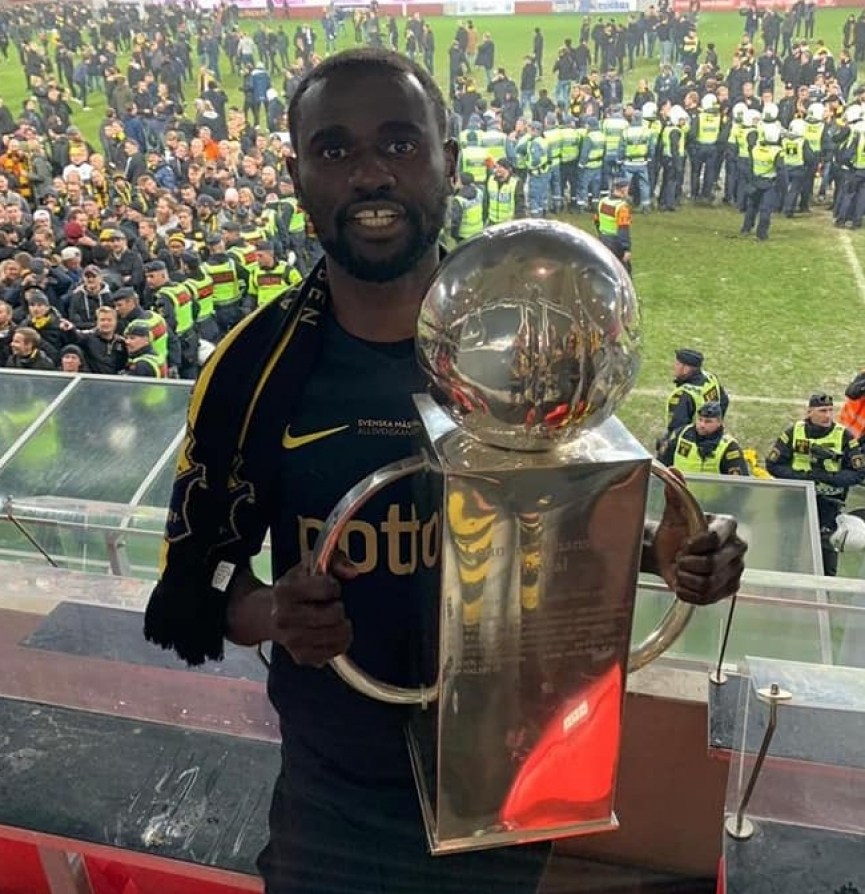 Enoch Adu Kofi wins Swedish league with AIK