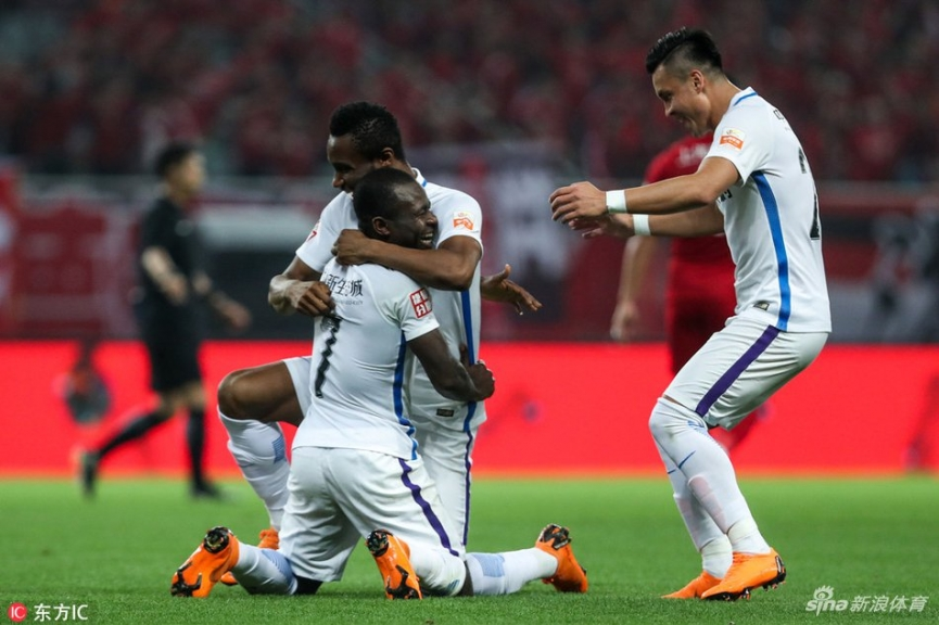 Frank Acheampong scores in Tianjin TEDA away draw with Shanghai SIPG