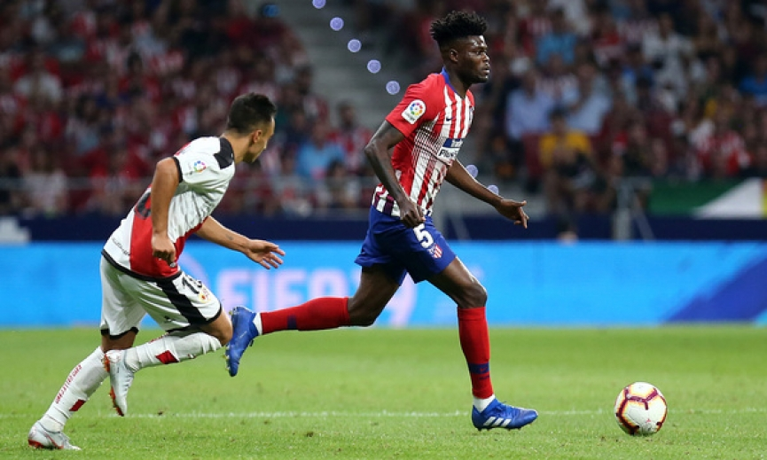 Thomas Partey plays his 100th match for Atletico Madrid