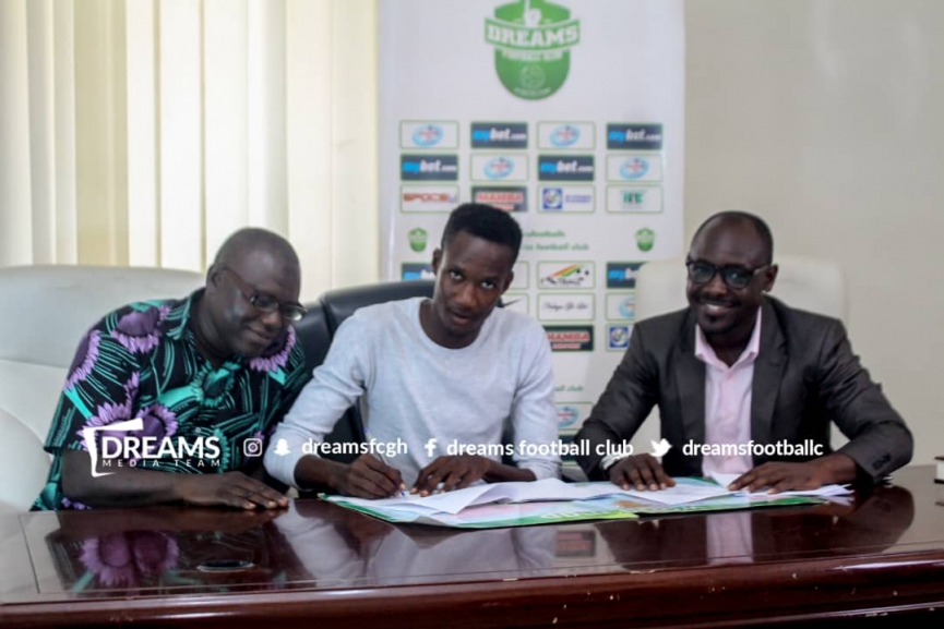 Youngster Godwin Okudzato joins Dreams FC