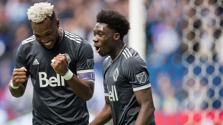Ghanaian starlet Alphonso Davies scores his first MLS goal for Vancouver Whitecaps