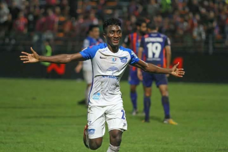 Prince Amponsah scores another BRACE for Chonburi FC in Thailand