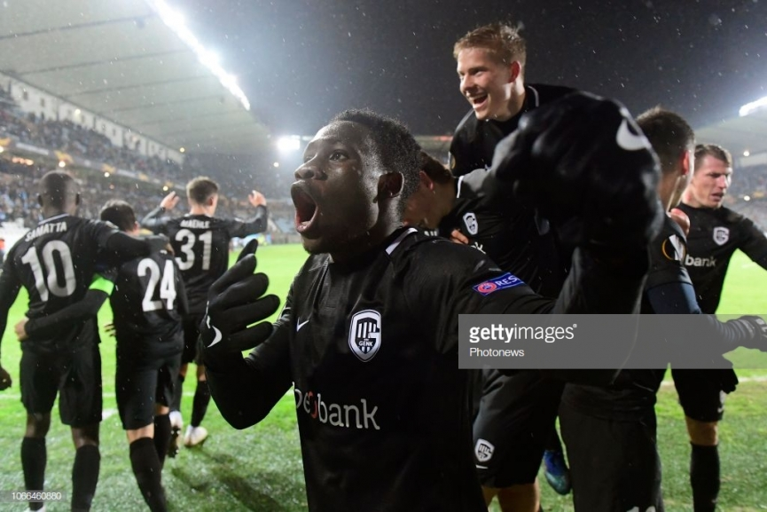 Classy Joseph Paintsil scores his first Europa League goal for KRC Genk