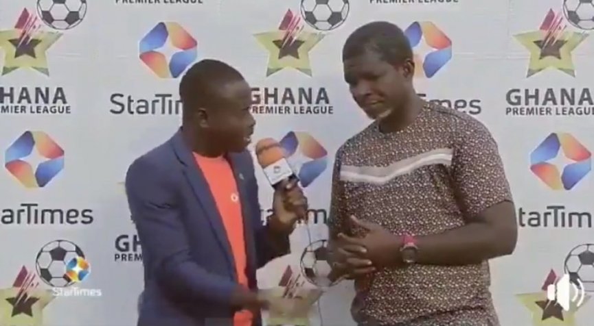 VIDEO: Maxwell Konadu reacts to why Kotoko faced Aduana Stars with ten men in first half