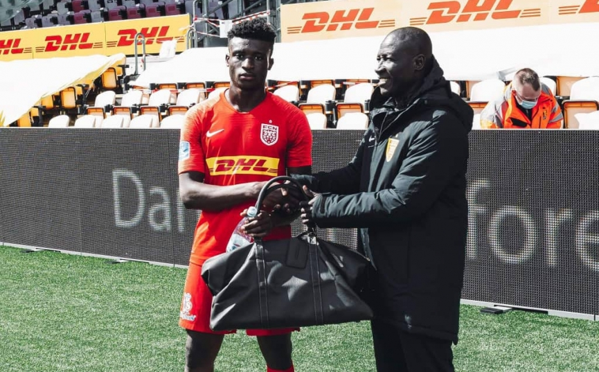 Kudus Mohammed wins Man of the match award in FC Nordsjaelland home defeat