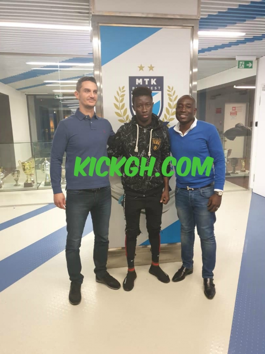 Hungarian side MTK Budapest FC sign Stephen Amankona on a three-year deal