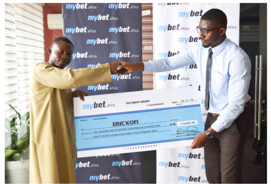 Eric Kofi is a huge winner at mybet.africa