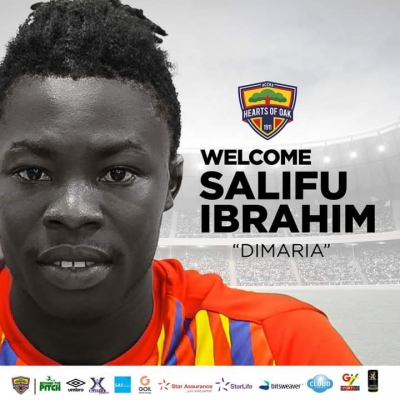 OFFICIAL: Hearts of Oak announce signing of Salifu Ibrahim