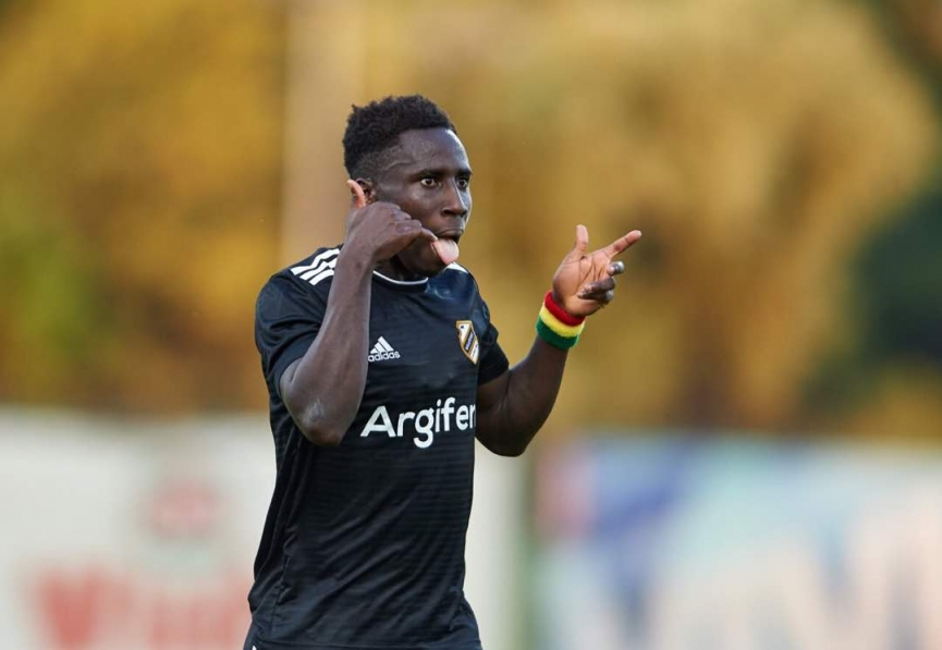 Samuel Owusu nets his sixth goal for FK Cukaricki in Serbia