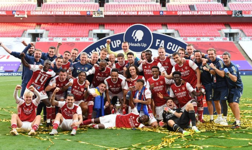 Ghanaian-born Eddie Nketiah wins FA Cup with Arsenal