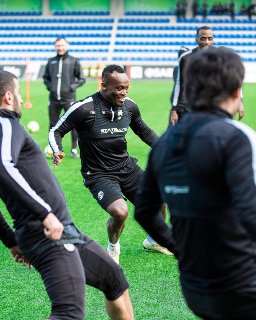 Ghanaian midfielder Michael Essien commences training with his new club Sabail FK in Azerbaijan