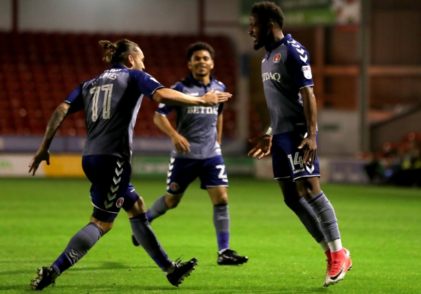 Tarique Fosu scores again for Charlton Athletic in England