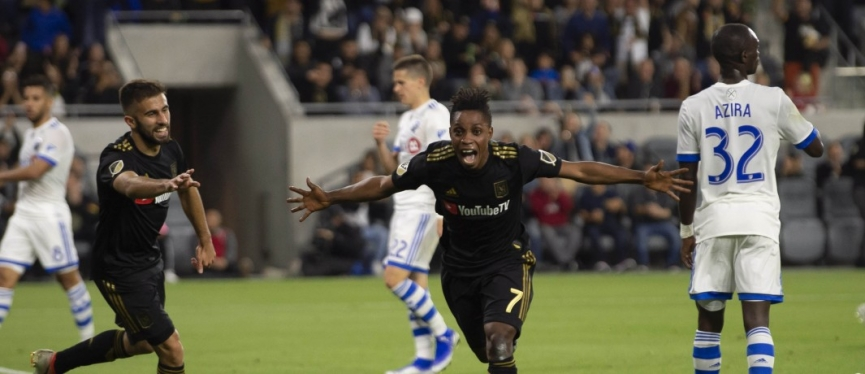 Latif Blessing scores his first goal of the season for Los Angeles FC