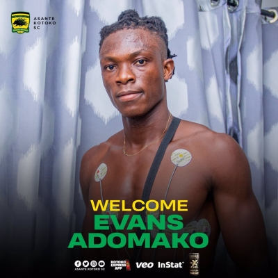 OFFICIAL: Kotoko sign Evans Adomako