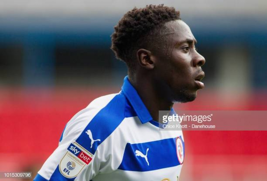 Andy Yiadom nets his debut goal for Reading in Championship