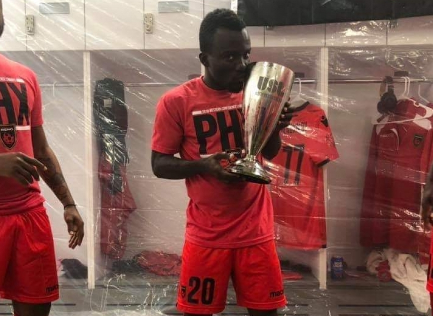 Solomon Asante and Gladson Awako win Western Conference title of USL with Phoenix Rising FC