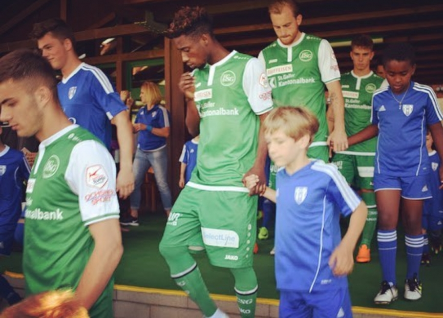Majeed Ashimeru nets his second goal for FC St. Gallen