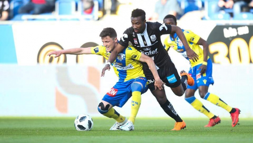 Samuel Tetteh grabs his fifth goal of the season for LASK Linz